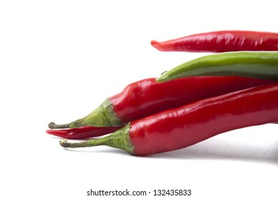 isolated pack of top chili peppers