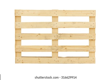 Isolated pallet over a white background