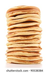 isolated pancakes stack