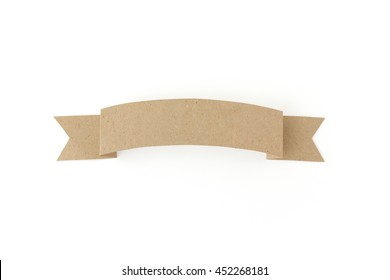 Isolated paper banner