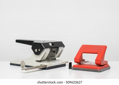 isolated paper punch on table