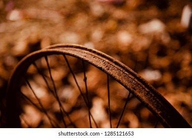 Isolated parts of a metallic wheel ring of a bicycle