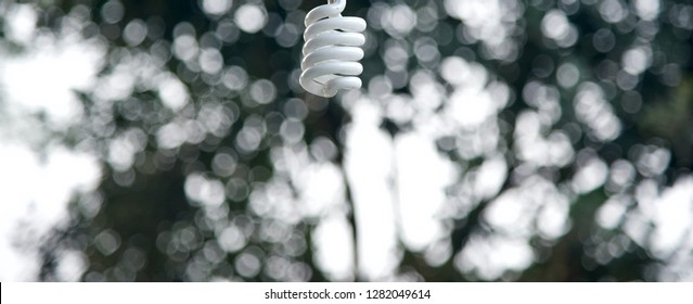 Isolated parts of a white hanging lights photograph