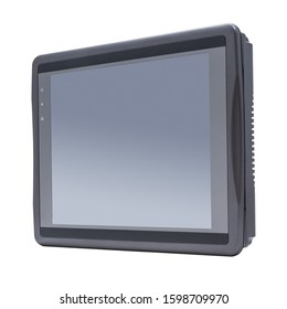 Isolated photo of a Human Machine Interface (HMI) touch screen device