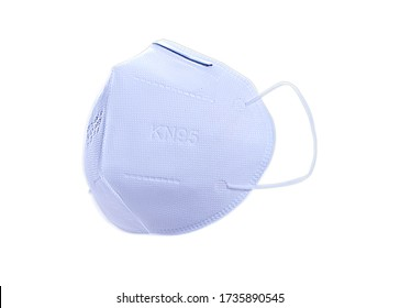 Isolated photo of n95 masks over a white background
