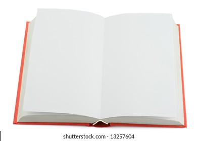 Isolated photo of opened book without text