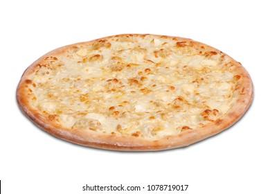 Isolated photo of pizza on white background.