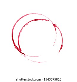 Isolated photo of red wine stains