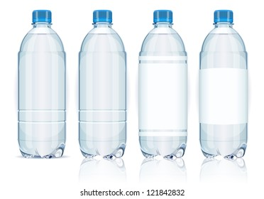 Isolated Plastic Bottles of fresh water vector illustration.