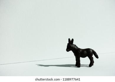 Isolated plastic donkey