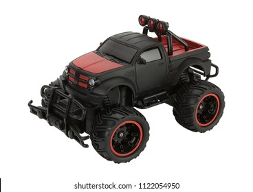 isolated plastic toy car