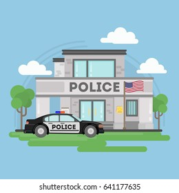 Isolated police building.