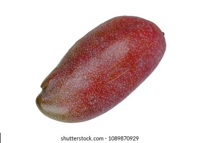 Isolated of popular fruit,Ripe night red Palmer Mango on white background