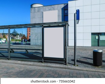 ISOLATED POSTER BILLBOARD BUS STOP