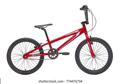Isolated Race Bicycle in Red Color