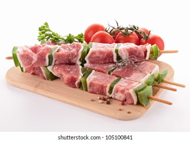 isolated raw meats