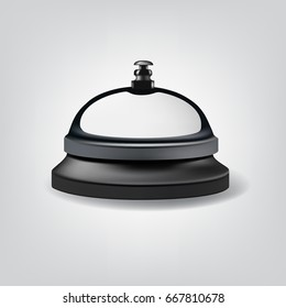 Isolated realistic reception bell. Raster copy.