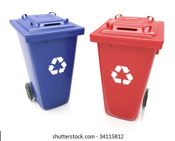 Isolated Recycling Containers