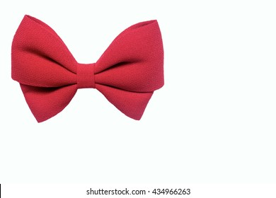 Isolated red big bow on the white background