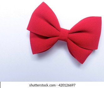 Isolated red bow for hair