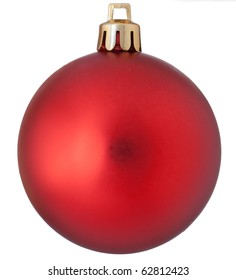 Isolated red christmas ball over white background