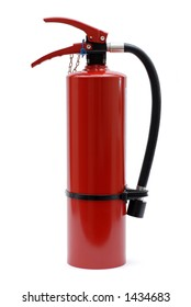 Isolated Red Fire Extinguisher with no Label