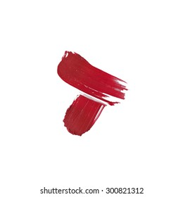 Isolated red lipstick sample