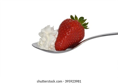 isolated red strawberry on a white background