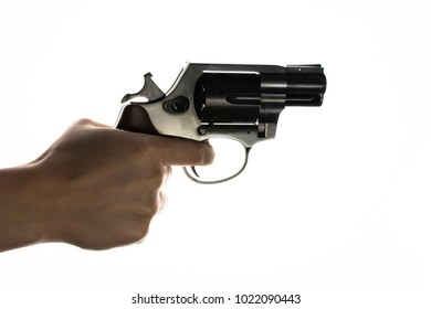 isolated revolver in hand