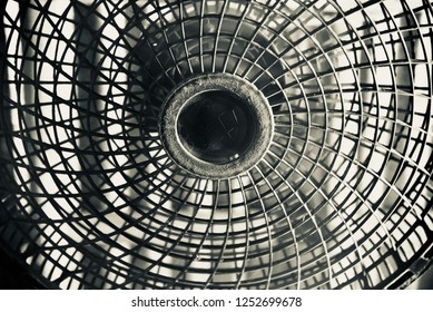 Isolated round shape plastic fan unique photo