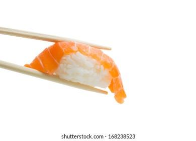 Isolated salmon sushi  nigiri