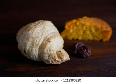 Isolated salted croissant with sesamo
