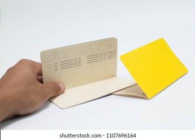 Isolated saving account bankbook