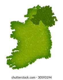 Isolated shamrock clover ireland map