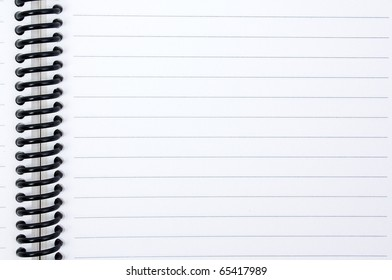 isolated sheet in a line with a spiral