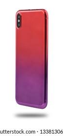 isolated shiny gradient multi colour smartphone