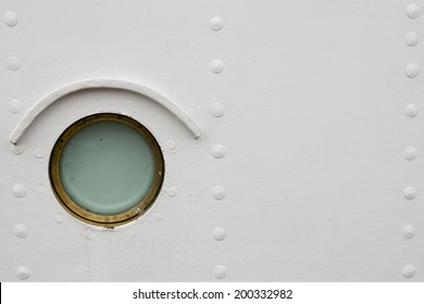 Isolated ship window