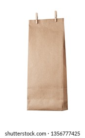 Isolated shopper bottle bag with two small pegs at the top