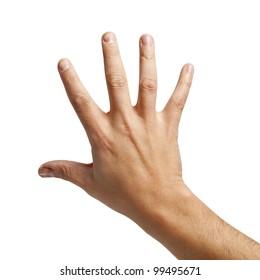Toma aislada de la parte posterior de una mano