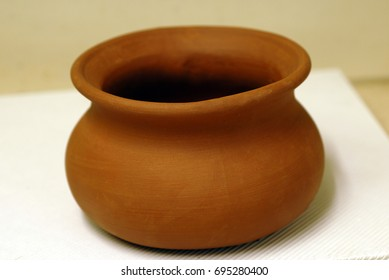 An isolated shot of a Decorative Earthen Pot