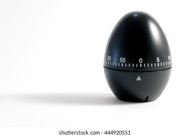 An isolated shot of a kitchen black egg timer