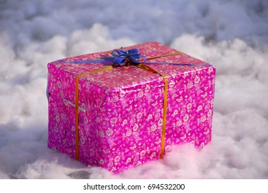 an isolated shot of a pink Gift Box