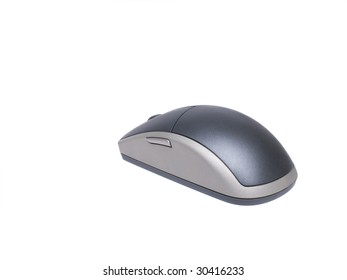 Isolated shot of a wireless multibutton mouse.