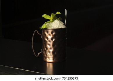 isolated sight of the cocktail Moscow mule .