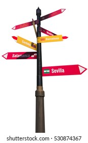 isolated signpost