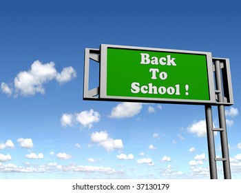 isolated signs with back to school text