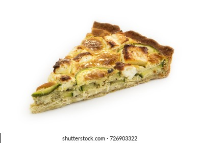 Isolated slice of zucchini pie