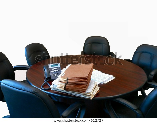 Isolated Small Round Conference Table 6 Stock Photo Edit Now 512729