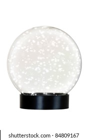 Isolated snow globe