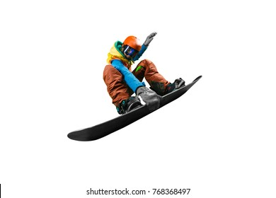 Isolated Snowboarding Photo